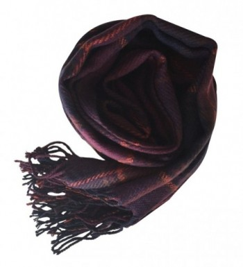 Rad Pixie Cashmere like Pashmina Plaid Purple in Fashion Scarves
