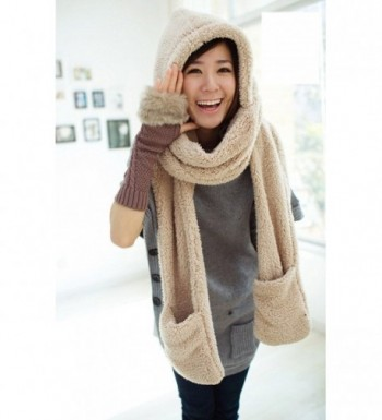 Tonwhar Womens Winter Hooded Mittens in Fashion Scarves