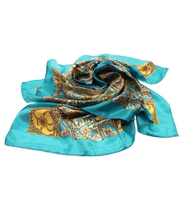 VANKER Women Painting Soft Silk Square Scarves Shawl 90*90cm - A - CJ12F7AM2YP