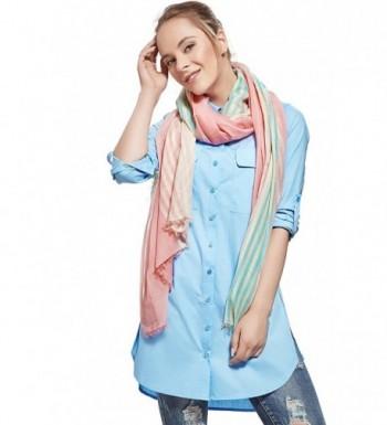 Ladies Striped Thread Fashion Scarves