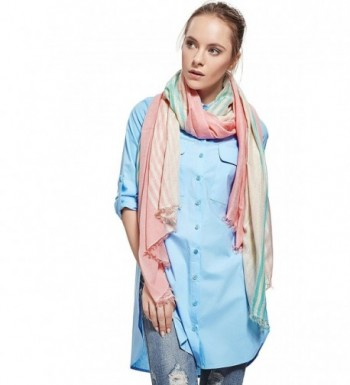 Ladies Striped Thread Fashion Scarves in Fashion Scarves