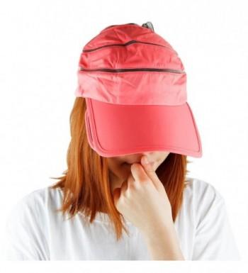 Samtree Sun Visor Hat For Women-Summer 2 In 1 Band Expanding Brim Sport Cap - Watermelon Red - CW12JDYYGY1