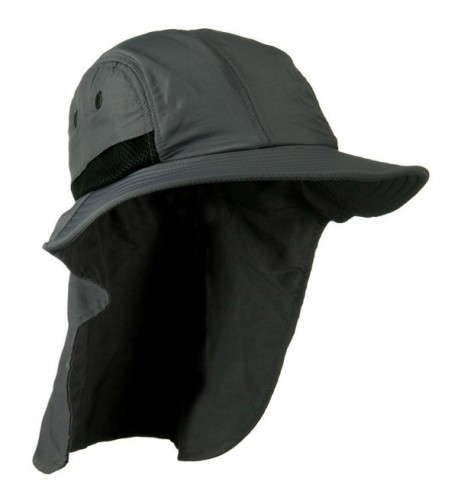 Dark Gray Outdoor Sun Flap Hat - CQ11KT8C86J