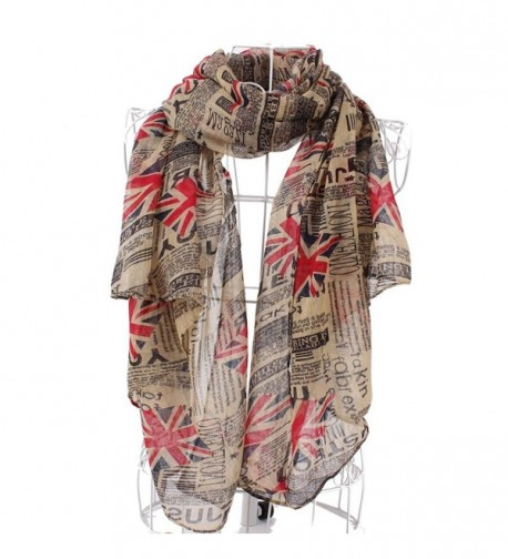 Aoloshow Womens Newspaper London Fashion in Fashion Scarves
