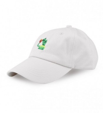 Eiffel Fashion Adjustable Baseball Cap Kermit None My Business Frog Sipping Tea - Beige - CP182X2WWII