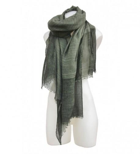 Terra Nomad Women's Soft Gauze Knit Pashmina Style Shawl Shoulder Wrap Scarf - Sage Green - CB12NBY8MWC