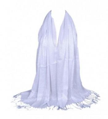 Elaco Fashion Women Long Soft Cotton Scarf Wrap Ladies Shawl Large Scarves - White - CX12MKQ2XFD