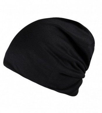 Timol Daily Solid Cap Beanie That Fit Your Head Perfect Stretchy & Soft For Men Women - Black - CY12NV4SP1Y
