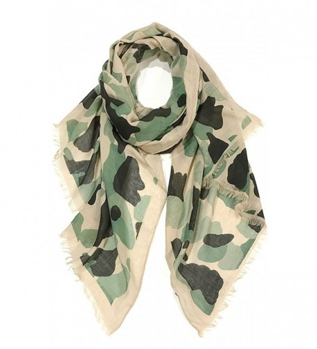CCFW Unisex 100% Cotton Camouflage Light-weight Oblong Fashion Scarf - C1183O77ZE3