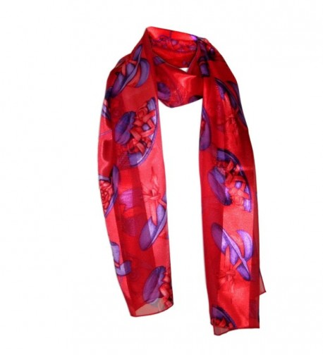 MaryLu's Exclusive Red and Purple Themed Ladies Scarf - CV11C9FV6PT