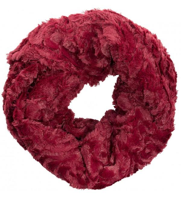 Sakkas Abhy Soft Fall Winter Furry Infinity Wrap Scarf - 5-cranberry - CI1258SG801