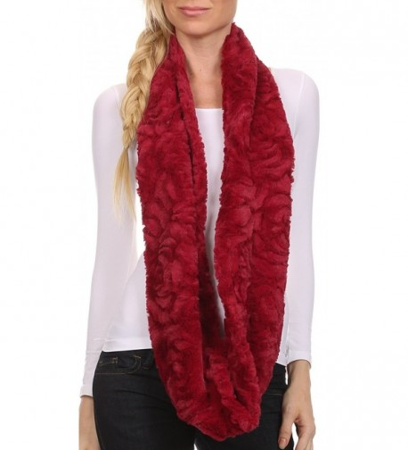 Sakkas CXGJ1531 Winter Infinity 5 Cranberry in Cold Weather Scarves & Wraps