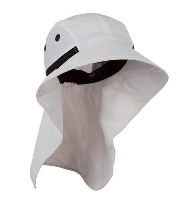 Juniper Womens Wide Brim Sun Flap Hat Camping Boating White - C7115YJHED5