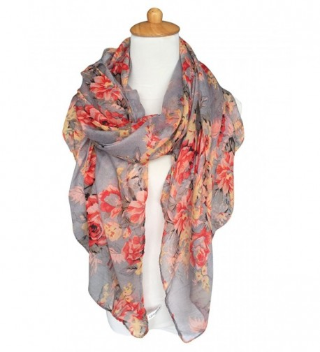 GERINLY Lightweight Scarves Fashion Flowers