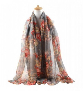 GERINLY Lightweight Scarves Fashion Flowers in Fashion Scarves