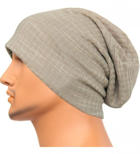 Rayna Fashion Unisex Beanie Hat Slouchy Knit Cap Skullcap Ribbed Baggy Style 1032 - Khaki - CG1296I3BOP