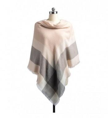 Women Plaid Blanket Scarf Tassel in Fashion Scarves