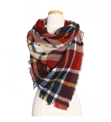 RT Fashion Plaid Multicolor Fall/Winter Blanket Scarves - Bs-11 - CN189GHASKA