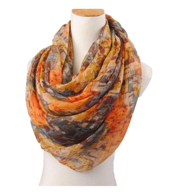 Outtop Womens Fashion Chiffon Soft Shawl Scarf [ VINTAGE ] - Orange - CB12O32PUBL