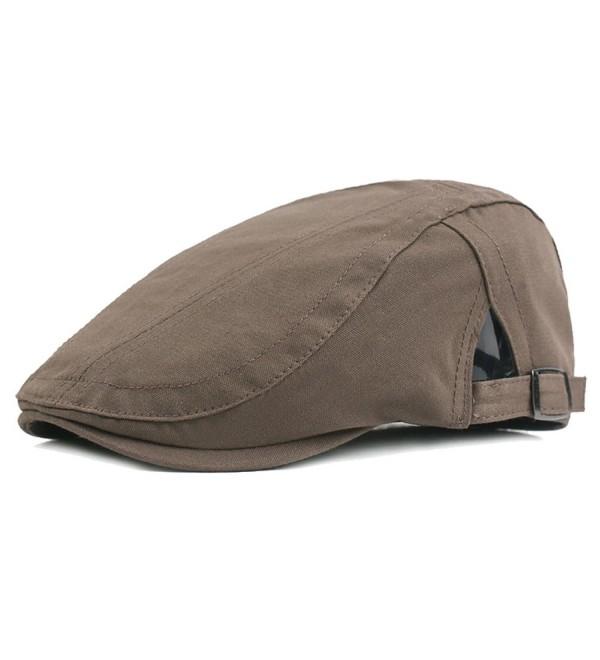 554d7e36d Men's newsboy IVY Hat- Cotton Flat Driving Cap Hunting Beret Hats Green  CB180HM7I8S
