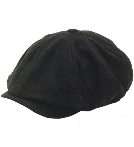 RaOn N18 Men's Fashion Basic Eight Panel Gatsby Style IVY Cap Ascot newsboy Beret Hat - Black - C612ESXPOJ3