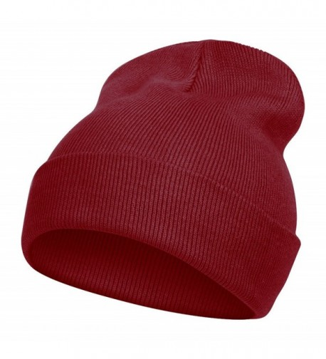 TopHeadwear Solid Color Long Beanie- Maroon - CG112V08R2R