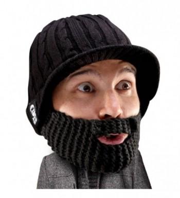 Beard Head - The Original Stubble Rider Knit Beard Beanie - Black - CB11DF1EOPF