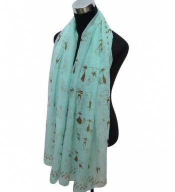 Lina Lily Kitten Footprints Lightweight in Fashion Scarves