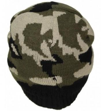 Best Winter Hats Cuffless Camouflage in Men's Skullies & Beanies