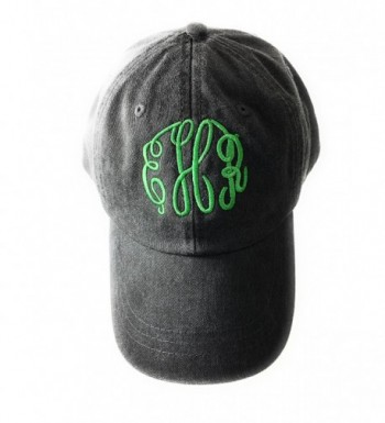 Mary's Monograms Woman's Monogrammed/Personalized Baseball Cap Black Color - C312NYV8QIG