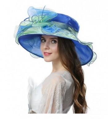 Janey Rubbins S5210 Elegant 42B Blue in Women's Sun Hats