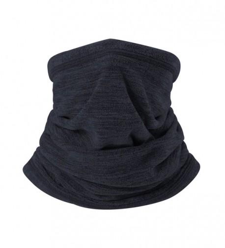 iParaAiluRy Long Fleece Neck Gaiter - Navy Blue - CU187I2AA8W