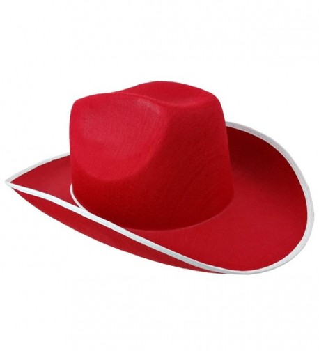 Cowboy Hat - Western Hat - Rodeo Hat - Costume Accessories by Funny Party Hats - Red - CT11J97F7HD