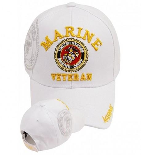 U.S. MARINE CORPS USMC INSIGNIA HAT WHITE MARINES US VETERAN BASEBALL CAPS - CL11XSW9GH7