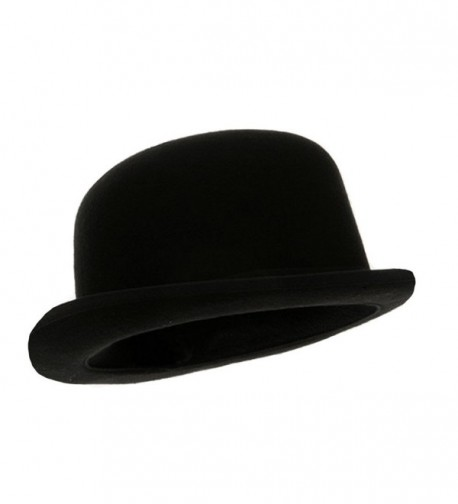 Black Blended Wool Derby Hat - CX116LKKB6X