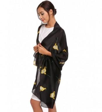 Zeagoo Lightweight Scarves Fashion Flowers in Fashion Scarves