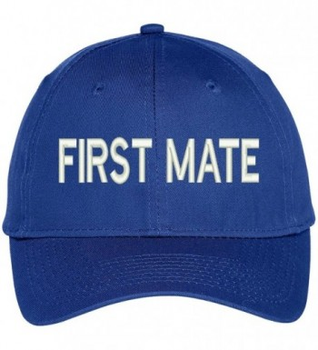 Trendy Apparel Shop First Mate Embroidered Baseball Cap - Royal - CQ12FXK4JXR