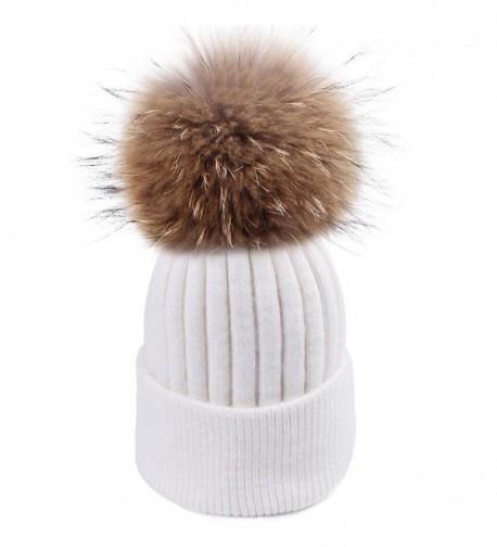Womens Winter Pom Hat Original - White - CI187G6RI35