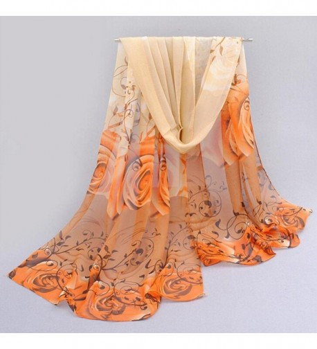 LEERYA Beautiful Pattern Chiffon Scarves