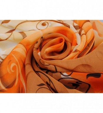 LEERYA Beautiful Pattern Chiffon Scarves in Fashion Scarves