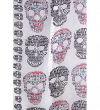 dcf3a5c4096b3 Humble Chic Sugar Skull Scarf Long Oversized Lightweight Printed ...