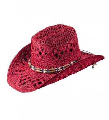 Western Fashion Hat for Women by Turner Hat (Cowboy Hat) - Red - C7126IWS4QH