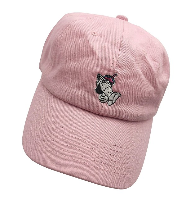 ZD Hand drink Dad Hats Baseball Cap Embroidered Adjustable Snapback Cotton Unisex - Pink - CZ187NTSMHA