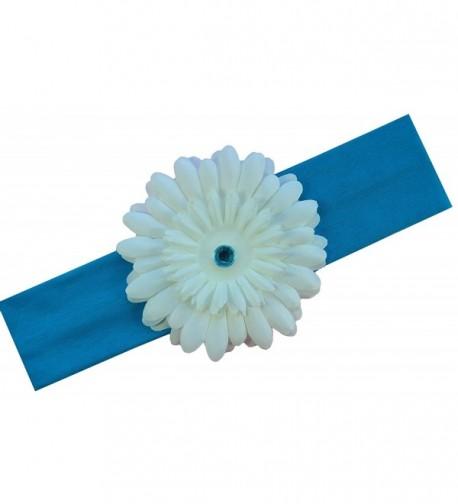 Girls Gerber Daisy Stretch Headband - Turquoise - CS11NH4IDR5