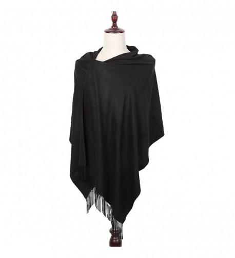 Women Cashmere Poncho Blanket Pashmina