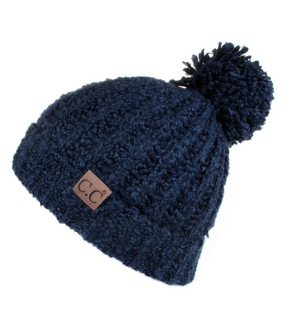 43e01135986e8c Hatsandscarf CC Exclusives Cable Knit Top Soft Large Pom Beanie Hat(HAT -7362)