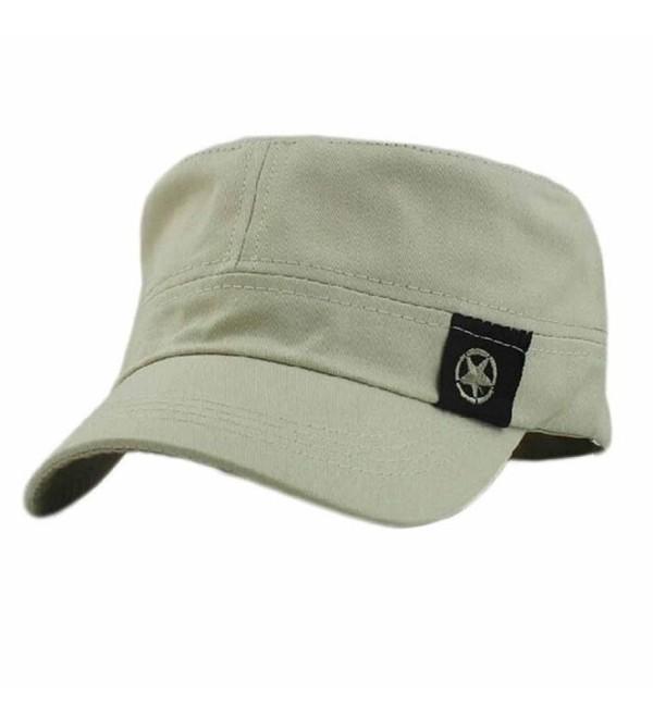 Baomabao Flat Roof Military Hat Cadet Patrol Bush Hat Baseball Field Cap - Gy - CU12FZGQZBD