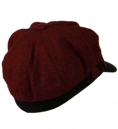 Wool Blend Herringbone Newsboy Cap in Women's Newsboy Caps