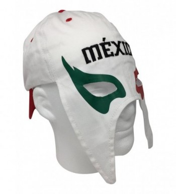 Mexico Gorra Mascara de Futbol. Mexico Soccer hat. Mexican Lucha Libre Mask Cap - White - CN186GUORG7