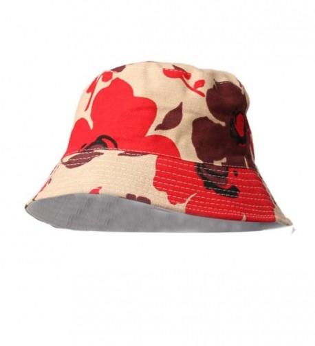 Voberry Fashion Women Floral Sun Hat Bucket Funny Summer Holiday Novelty Beach Outdoor Cap - G - CV124XFVJUJ